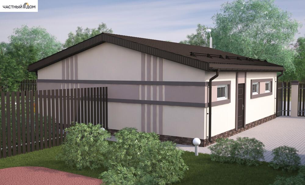 Проект гаража 075-15