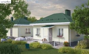 Проект дома и бани 015-15